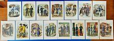 More details for set of 15 fdi german art postcards, postal workers, clerks. stamps block 4 ph1