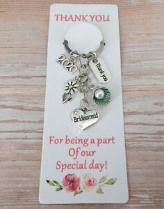 Personalised Wedding Keepsake Gifts Thank you Bridesmaid, Mother of Bride  2021