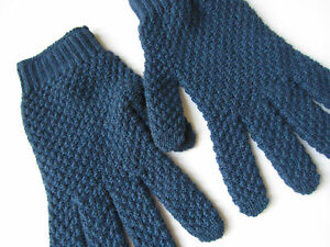 Paul Smith 100% Cashmere Blue Gloves