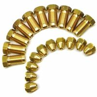 """3/8"""" x 24 UNF Male and Female Brass Brake Pipe Fittings for 3/16"""" Pipe 20 Pack"""