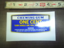 masters turn handle chewing gum 1 cent water release decal stock # 125