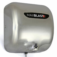 550W Brushed Steel Automatic Hand Dryer Wall Mounted Commercial Heavy Duty