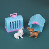 1:12 Dollhouse Toy For Children Garden Miniature plastic Kennel With Dog|ZSHWCCW