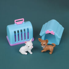 1:12 Dollhouse Toy For Children Garden Miniature plastic Kennel With Dog 