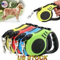 10/16FT Automatic Retractable Dog Leash Pet Collar Automatic Walking Lead Leash