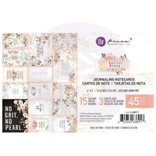 "Prima Santorini Journaling Cards Pad 4/""X6/"" 15 Designs//3 Each 45 Notizkarten"