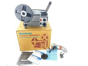 VTG Sankyo Dualux 2000H Super 8 Single 8 Movie Projector 8mm JAPAN w/ Box