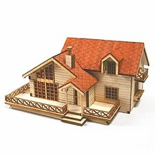 Desktop Wooden Model Kit Garden House B with a large deck by YOUNGMODELER