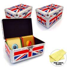 "Gorilla 7"" Singles Vinyl Record Box Storage Carry Case Holds 200 (Union Jack) x3"