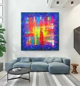 LARGE Joy Abstract Art painting Original Contemporary Prize Decor Award Gallery