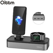 Oittm Apple Watch iPhone iWatch Holder USB Charging Stand Dock Station - Grey