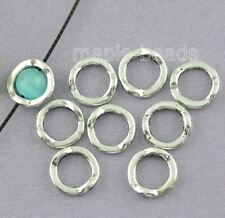 10pcs-13mm silver ring spacer beads-square circle frame spacer beads