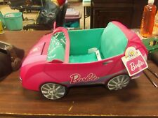 "BUILD A BEAR BARBIE Pink Stuffed Plush Car Limited Collector Ed.  16"" NWT"