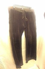 Juicy Couture Women's Brown Velour Lounge Sweat Pants Track Jogging Winter Sz L