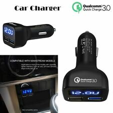 Tablets Auto Volt Amp Meter QC3.0 2-USB Fast Charging Car Charger LED Display