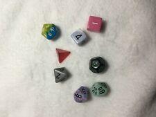 Gaming Dice 8 pieces [d20, d10 x2, d12, d8, d6 x2, d4]