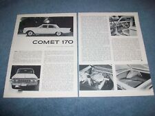 1961 Mercury Comet 4-Door Sedan Vintage Road Test Info Article