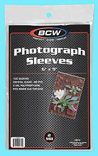 """100 BCW 6""""x9"""" SOFT POLY SLEEVES Photo Clear 6x9 Photograph Oversize Post Card"""