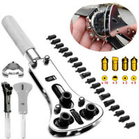 Watch Back Case Opener Screw Remover Wrench Tool Kit Set