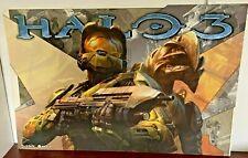 RARE set of 3 HALO 3 & REACH Posters Master Chief GameStop Xbox Promo Displays