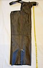 Harley Davidson Vintage Black Leather Chaps Size 2Xl Rn103819/Ca03402
