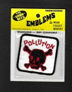 VINTAGE 1969 THE SHOW OFFS EMBLEMS Pollution cloth patch