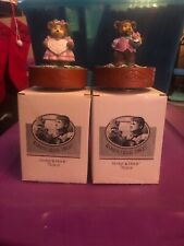 ROBERT RAIKES COLLECTIBLES GEORGE & GRACIE MUSICAL SET Of 2