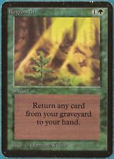 Regrowth Alpha HEAVILY PLD Green Uncommon MAGIC MTG CARD (ID# 139850) ABUGames