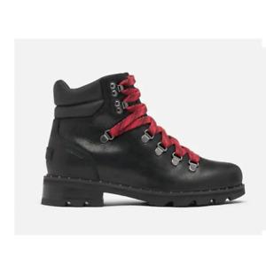 Sorel Lennox Black Leather Hiker Boots
