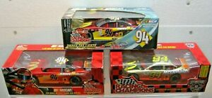 (3) Cars for 1 price - BILL ELLIOTT  1/24 scale - Die-cast