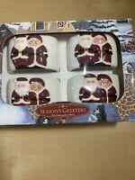 Publix Seasons Greeters Christmas Holiday Napkin Rings Set of 4