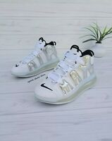 SIZE 8.5 MEN'S NIKE AIR MORE UPTEMPO 720 QS 1 WHITE SILVER BQ7668 100 BASKETBALL