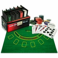 200pcs Texas Hold'em Poker Set Pocker Chips/ Table cloth/ Aluminium Case/ Casino
