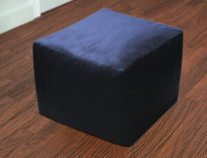 """New 18X18"""" Indian Square Black Floor Decorative Cotton Pouf Ottoman Covers Throw"""
