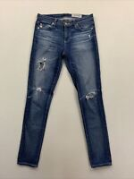Adriano Goldschmied Women's Blue The Legging Ankle Skinny Fit Jeans 25