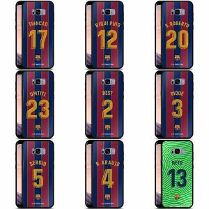 FC BARCELONA 2020/21 PLAYERS HOME KIT GROUP 2 BLACK HYBRID GLASS CASE SAMSUNG