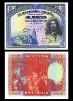 SPAIN / ESPAÑA 1000 Pesetas, 1928,   P-78, aUNC / * ''San Fernando III ''  ***