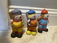 Vintage CLOWN Figurines Porcelain Lot of 3 Collectible Rare Circus Trippie 38
