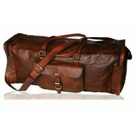 Men's Small-Large Leather Luggage Gym Weekend Overnight Large Vintage Duffel Bag
