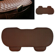 Car Rear Seat Cover Breathable PU Leather Pad Mat Chair Cushion Universal Brown
