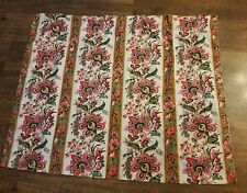 Material Arabesque Life Styles Screen Print Pink Floral Paisley 46 x 38