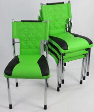1 Stuhl Konferenzstuhl Designer PU verchromt Lederstuhl stapelbar Stapelstuhl