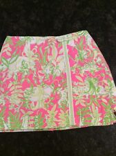 Lilly Pulitzer Girl's Pink & Green Animal Skort, Size 10. Cute!