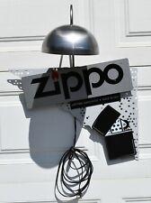 Vintage Original Zippo Metal Tin Advertising Sign w/Light  & Original Box  #2524
