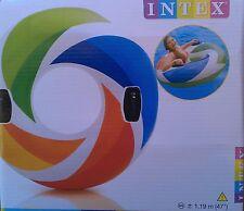 Intex Farbiger Wellenring Schwimmring 119 cm Badeinsel Luftmatratze Ring , (K)