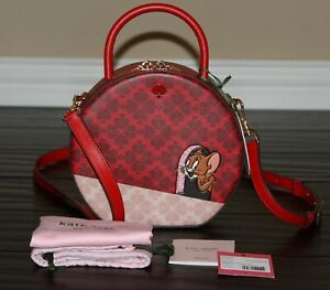 💚 KATE SPADE x Tom and Jerry Canteen Bag Top Handle Purse Crossbody Limited Ed