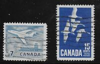 Canada Scott #414-15, Singles 1963-64 Complete Set FVF Used
