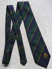 Vintage Golf Tie Mens Necktie Retro Sport Golfing Club East Anglian Region Agcs