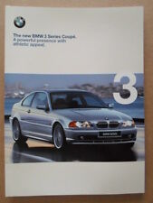 BMW 3 SERIES COUPE orig 1999 2000 UK Mkt Sales Brochure Prospekt - E46 328Ci
