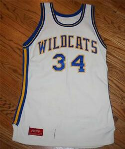 Vintage Wildcats #34 Sewn Basketball Rawlings Jersey-Adult size 42-Rare/hoops